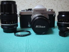 NIKON Nikkormat FT3 body  +  Nikkor 50 mm/2 AIS + Nikkor 28 mm/3.5 + Nikkor 135 mm/2.8 (1965)