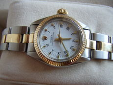 Rolex Oyster Perpetual 18K & Stainless Steel Two Tone 6719 Ladies Wrist Watch