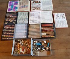 Huge collection cigar bands & series, thousands of pieces in a box and 7 albums
