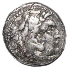 Greek Antiquity - Kings of Macedon. Alexander III 'the Great' (336-323 BC). AR Drachm. Side mint, ca. 320-316 BC, struck under Antigonos I Monophthalmos - 16mm; 3.78g