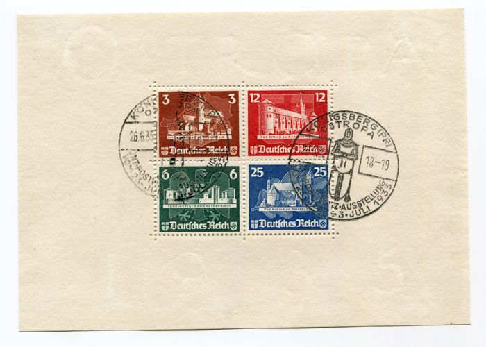 German Reich block 3 block edition OSTROPA with special stamp