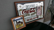 2 mirrors Old coca-cola - Hilda Clark and CAMEL