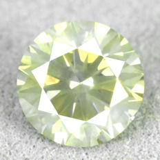 Diamond – 0.89 ct – NO RESERVE PRICE – Natural Fancy Greyish Yellow, Si2