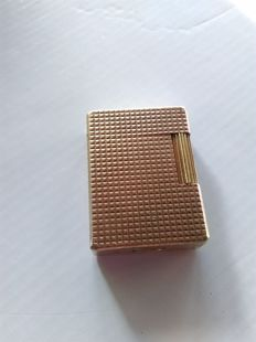 S.T. Dupont lighter - Paris line 1 b s - gold plated - working flame