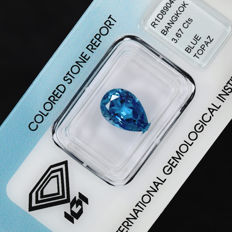 London Blue Topas - 3.67 ct No Reserve Price