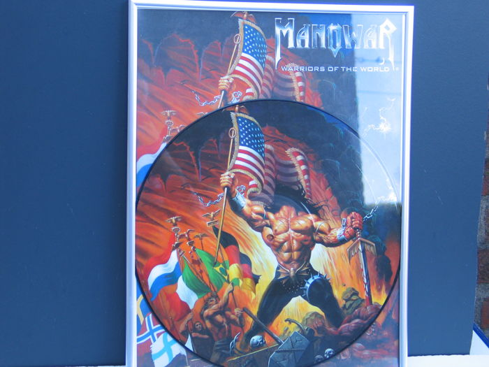 Manowar - Warriors of the world (limited edition) - framed LP.- 2002.