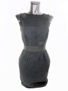 D&G Dolce & Gabbana black short designer dress with slash pockets KOF@