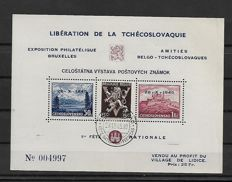 Belgium 1945/1980 - Collection of vignettes on black cards