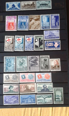 Italian Republic - 1951 - Complete Year - 29 Stamps - Sassone No.  653-681
