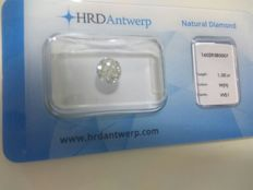 1.00 brilliant cut diamond, colour H, VVS1 clarity, HRD High Council