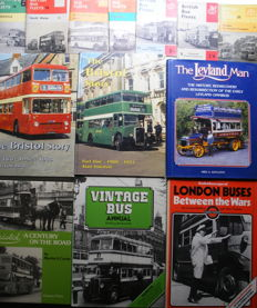 Lot of 13 British Bus books