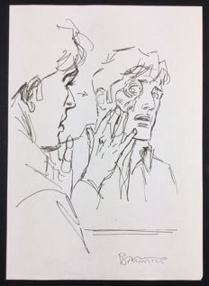 """Brindisi, Bruno - sketch for a cover of Dylan Dog """"La Zona del Crepuscolo"""""""