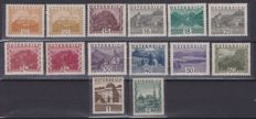 Austria – Selection from 1850 to 1947 , views from 1929 and other complete series and singles, also in blocks of 4