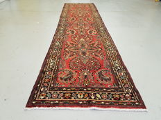 Extra large hand-knotted Persian Roodbar Runner 430 x 105cm - Iran 20th century
