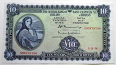 Ireland Republic - Lady Lavery - 5 Pounds 1968 and 10 Pounds 1976 - Pick 65a and 66d