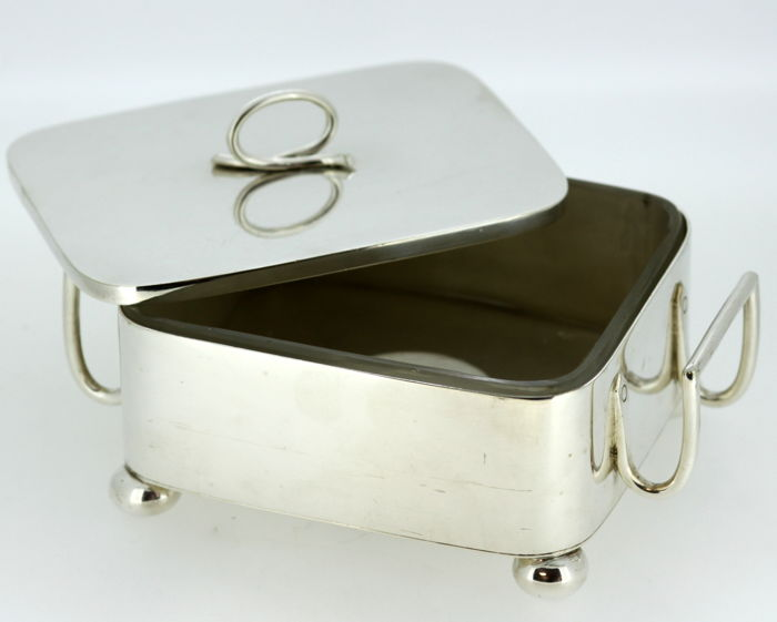 Antique Victorian Silver Plate Butter Dish, William Hutton & Sons, London/Sheffield 1849