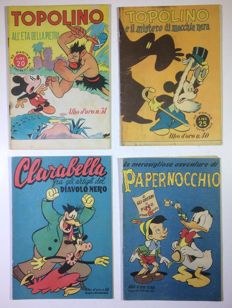 Disney - Lot of 4 albums - Albo d'oro - Softcover (1946/1948)