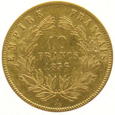 France - 10 Francs 1856 A - Napoleon III - gold