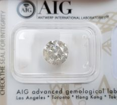 2.81 ct - Natural Diamond - G Color, I-2  -  NO RESERVE