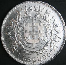 Portugal Republic – 1 Escudo 1916 – Silver