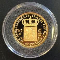 The Netherlands - 10 guilders 1818 Willem I restrike in gold