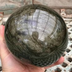 Sphere of Silver Obsidian - 135 mm - 3.17 kg