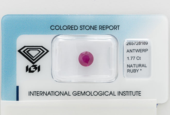 Ruby - 1.77 ct - No Reserve