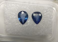 Couple Sapphire Blue 1.23 ct   No Reserve Price