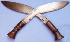Pair of Original WW2 British Army Gurkha Regiment Kukri Knives #2