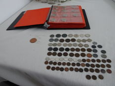 the Netherlands and Overseas - Collection of 332 coins of ½ cents to 5 guilder, 18th century/2000, of which 30x silver