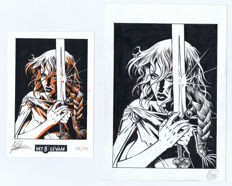 Oosterveer, Minck - Original art for bookplate - Excalibur - (1998)