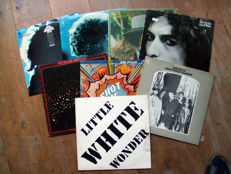 8 vinyl Lp albums from Bob Dylan, including the first release of the unofficial release of 'Little White Wonder'