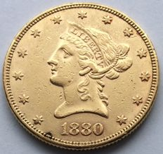 USA – 10 Dollars 1880 'Liberty Head' – gold