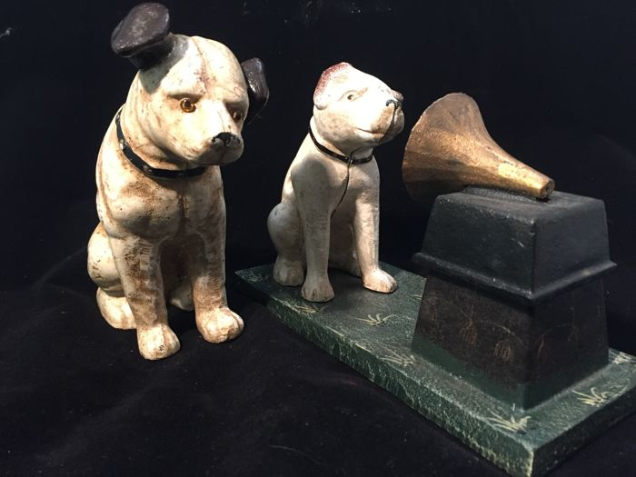 Cast Iron Dog After His Masters Voice Hmv Catawiki