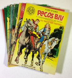 """Pecos Bill"" - Albi d'Oro series - 11x albums of the very beginning (1949-52)"
