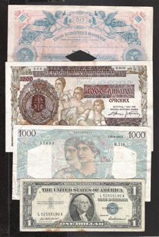 World - 32 World banknotes