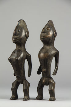 Couple of ritual Figurines - LOSSO - Togo