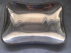 Sterling silver tray - Pedro Durán - Spain - 20th century
