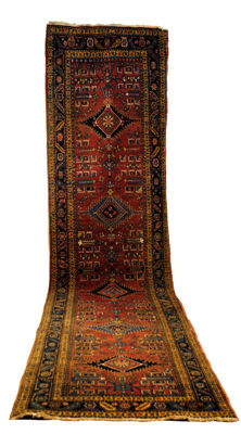 Hand-knotted runner from North-West Iran.