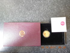 Belgium - 5000 Francs 1999 'Albrecht and Isabella' in original case with certificate - gold