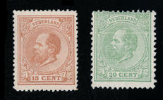 The Netherlands 1872 - King Willem III - NVPH 23 and 24
