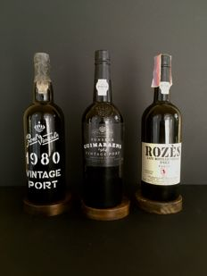 1x 1980 Vintage Port Real Vinicola & 1x 1984 Vintage Port Fonseca Guimaraens & 1x 1985 Late Bottled Vintage Port Rozès - 3 bottles in total