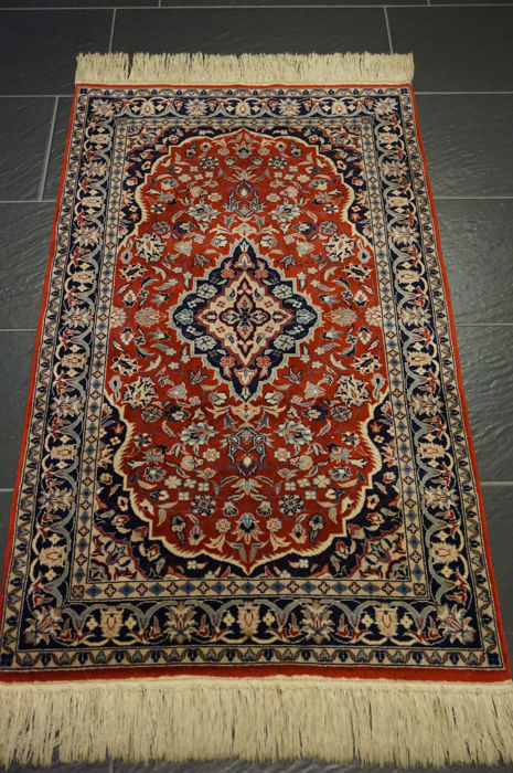 Beautiful Hand Knotted Oriental Carpet China Isfahan 70 X 123 Cm