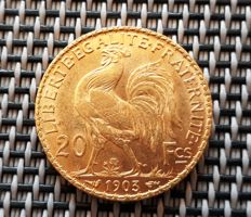 France - 20 Francs 1903 'Marianne' - Gold