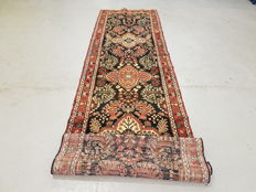 XL unbelievable hand-knotted Persian Hamedan Runner 408 x 105cm - Iran 19th century