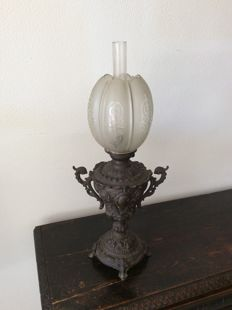 1900 Zamak petrol lamp France