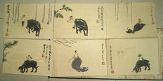 Li Keran《李可染》 - Hand painted cartoon - China - [2nd half of 20th century]