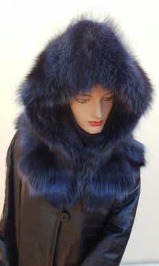 Marmot fur hood/hat (Made in Italy)