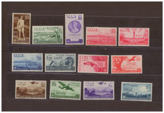 Italy, Kingdom, 1936 - 2000 years from the birth of Horace - Sass.  No. 398/405 and Airmail A95/A99