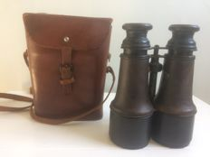 Binoculars in original sheath, French